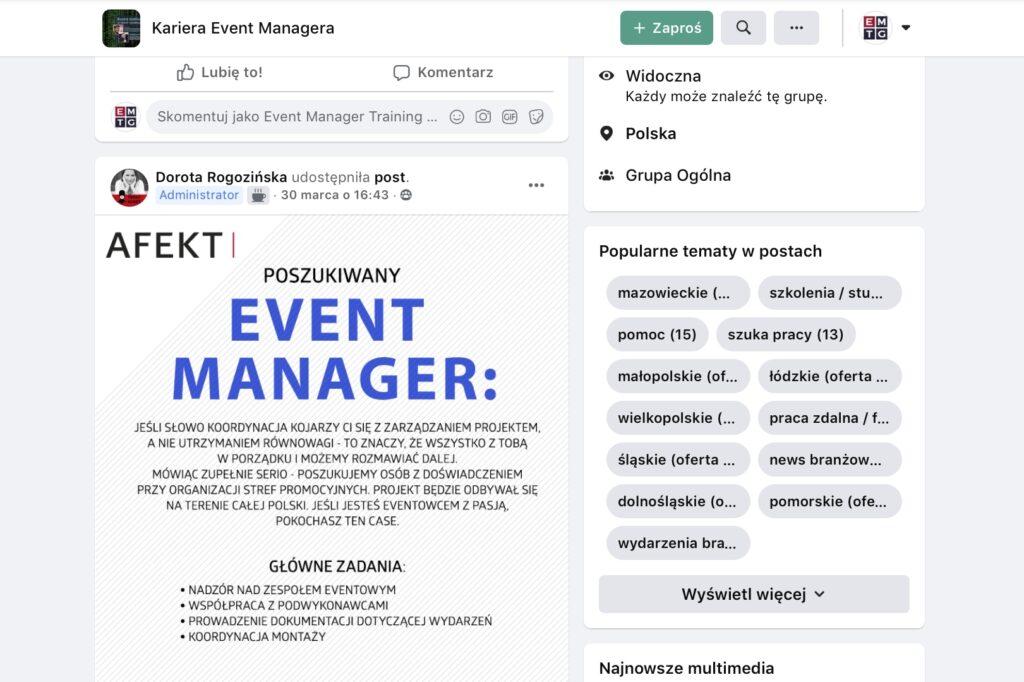Oferty pracy w branży eventowej