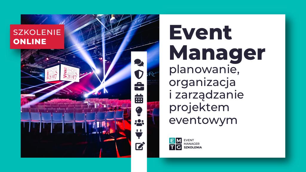 Szkolenie Event Manager jak zorganizować event EMTG