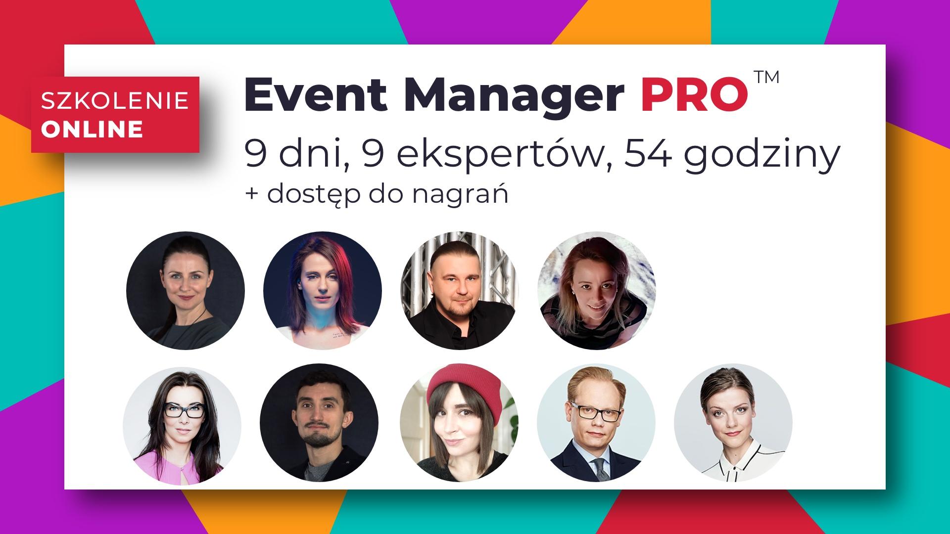 Event Manager PRO szkolenie online nagrania video